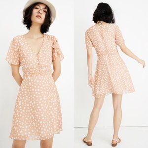 NWT Madewell Star Shower Ruched Waist Mini Dress